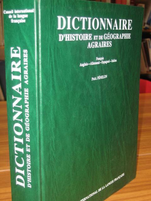 Dictionnaire d 39 histoire et de g ographie agraires for Dictionnaire architecture et construction